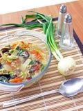Bacia de sopa chinesa Imagem de Stock Royalty Free