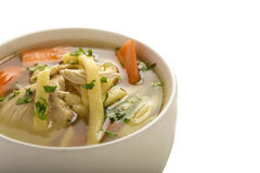 Bacia de sopa de galinha Foto de Stock