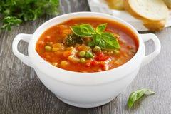 Bacia de sopa do minestrone Imagem de Stock