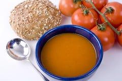 Bacia de sopa do tomate Imagens de Stock Royalty Free