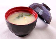 Bacia de sopa japonesa Fotografia de Stock