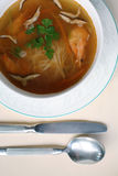 Bacia de sopa quente fresca Fotografia de Stock Royalty Free