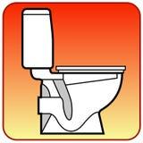 Bacia de toalete Foto de Stock Royalty Free