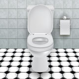 Bacia de toalete ilustração stock