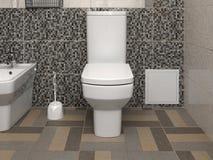 Bacia de toalete moderna branca Foto de Stock Royalty Free