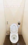 Bacia de toalete no armário de água Fotografia de Stock Royalty Free