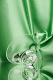 Bacia de vidro refletida Fotografia de Stock