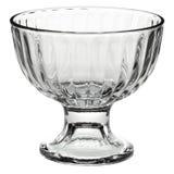 Bacia de vidro vazia da sobremesa Imagens de Stock