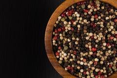 Bacia de vária pimenta Imagens de Stock