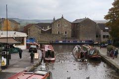 A bacia do canal, Skipton em 29 outubro 2010 Fotos de Stock