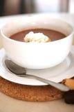 Bacia do chocolate quente fotografia de stock