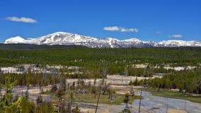 Bacia do geyser da porcelana, parque nacional de Yellowstone fotografia de stock