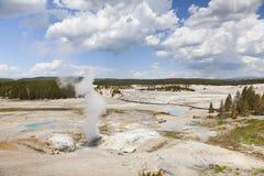 Bacia do geyser de Norris fotos de stock royalty free