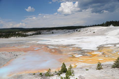 Bacia do geyser de Norris, Yellowstone Fotografia de Stock