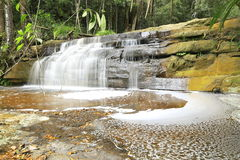 Bacia do maliu da cachoeira de Giluk fotos de stock royalty free