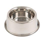Bacia do metal do cão de animal de estimação isolada Imagens de Stock