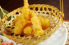Bacia do tempura de Ebi do camarão fotos de stock