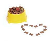Bacia dos alimentos para animais domésticos Fotografia de Stock Royalty Free