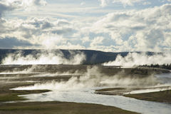 Bacia dos geysers de Yellowstone foto de stock