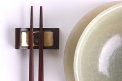 Bacia e chopstick Fotografia de Stock