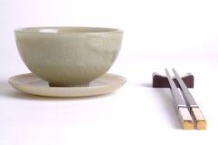 Bacia e chopstick Fotos de Stock Royalty Free
