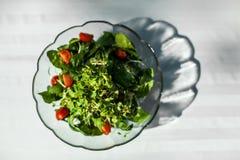 Bacia grande de salada colorida imagens de stock