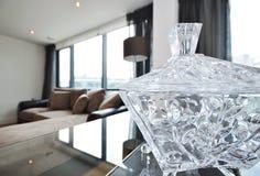 Bacia Home do cristal da decoração Fotografia de Stock Royalty Free