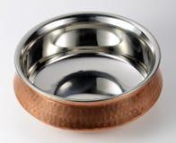 Bacia indiana de aço e de cobre Imagens de Stock Royalty Free