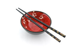 Bacia oriental e chopsticks Imagem de Stock Royalty Free