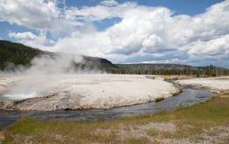 Bacia preta da areia no parque nacional de Yellowstone Fotos de Stock