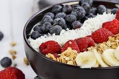 Bacia saudável e fresca da Buda do café da manhã Imagem de Stock
