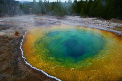 Bacia superior do geyser, manhã Glory Pool Fotografia de Stock