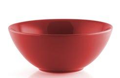 Bacia vazia vermelha no fundo branco Imagens de Stock