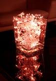 Bacia vermelha da luz de Natal Imagem de Stock Royalty Free
