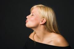 Baciare della ragazza Fotografie Stock