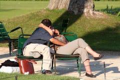 Baciare delle coppie Fotografia Stock Libera da Diritti