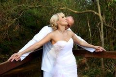 Baciare delle coppie di nozze fotografia stock libera da diritti
