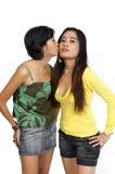 Baciare delle due ragazze Immagini Stock Libere da Diritti