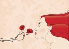 Baciare fiore Fotografia Stock
