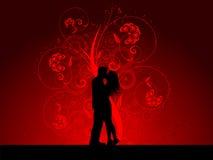Baciare le coppie illustrazione vettoriale
