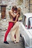 baciare le coppie Immagine Stock