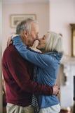 Baciare maggiore delle coppie Immagini Stock Libere da Diritti