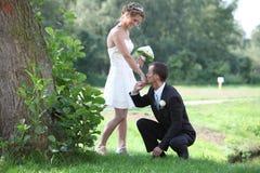 Baciare mano Fotografie Stock
