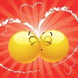 Baciare sorridente della sfera Immagini Stock