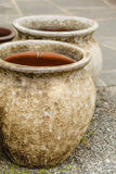 Bacias cerâmicas antiquados dos vasos da argila Imagens de Stock