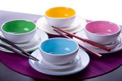 Bacias chinesas coloridos Fotos de Stock