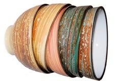 Bacias coloridas fotos de stock