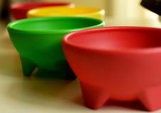 Bacias coloridas da salsa Foto de Stock Royalty Free