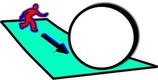 Bacias com a esfera grande para o texto ilustração do vetor