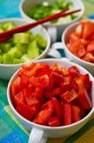 Bacias coreanas do alimento com vegetais Fotos de Stock Royalty Free